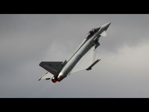 The Eurofighter Typhoon at Le Bourget...