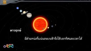 สื่อการเรียนการสอน ตำแหน่งของกลุ่มดาว 2 ม.3 วิทยาศาสตร์