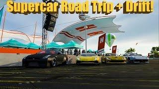 Forza Horizon 3 Online Supercar Road Trip + Drift Hangout