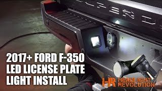 Buy yours here:https://headlightrevolution.com/2017-ford-f250-f350-super-duty-led-license-plate-bulbs-kit/These plug and play LED bulb replacements for your 2017+ Ford F250/F350 are the brightest and best working options we found to add LED lighting to your license plate illumination! Not all LED bulbs are created equal!