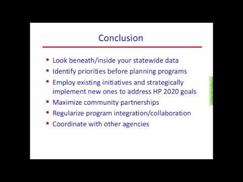 Healthy People 2010 Final Review Webinar (Part 6 of 7)