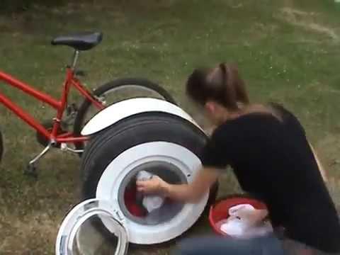 bicicletta - lavatrice! invenzione incredibile!