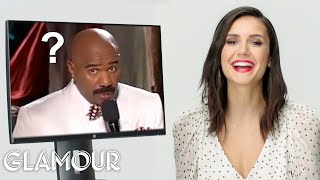 Video Nina Dobrev Reacts to Viral Pop Culture Moments | Glamour MP3, 3GP, MP4, WEBM, AVI, FLV Mei 2019