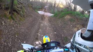 3. first ride off road HUSQVARNA TE 510 with Gopro