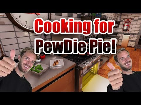 I Cook For PewDiePie! We Make Some Spaghetti For Pewds In Cooking Simulator!.