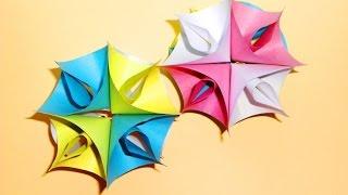 Елочные игрушки из бумаги. Новогодние поделки оригами