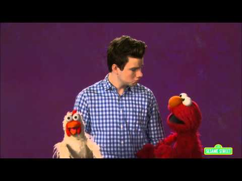 colfer - When someone is mean to Elmo's friend, Chicken, Elmo looks to an adult (Chris Colfer) for advice on what he can do to help his friend. For more information check out: http://www.sesamestreet.org/ch...