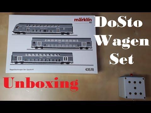 Unboxing: Märklin DB Regio Doppelstockwagen - Set 43570 (mit LED Innenbeleuchtung)
