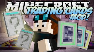 Minecraft | TRADING CARDS MOD! (Booster Packs, Rare Cards&TDM Cards!!) | Mod Showcase
