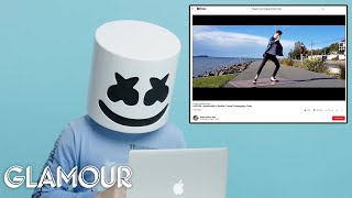 Marshmello Watches Fan Covers On YouTube | Glamour