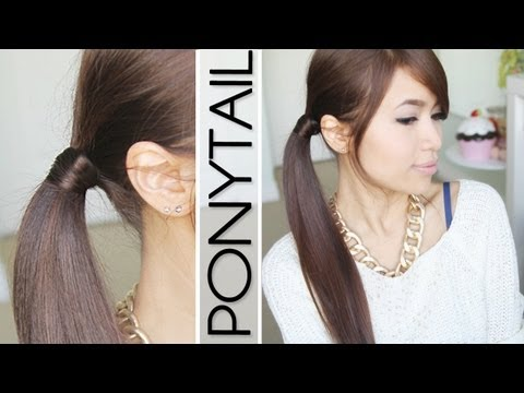 Hair Wrapped Ponytail (No Bobby Pins) Hairstyle Hair Tutorial