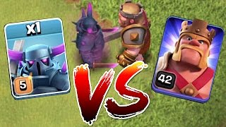 BATTLE TO THE DEATH!!! MAX PEKKA vs. LVL 42 HERO!! | clash of clans