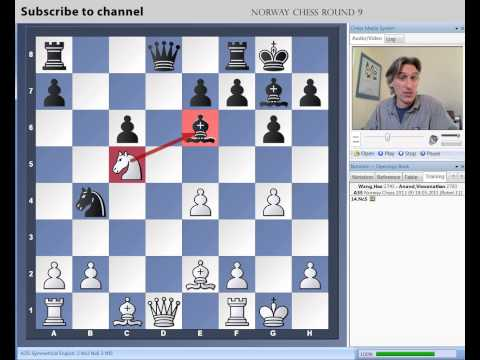 chess - Daniel King demonstrates Wang Hao vs Anand from round 9 of the Norway Chess Tournament.. Click here for Daniel King's latest Power Play DVDs: http://chessbas...