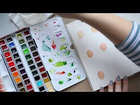 Art Therapy Journal Play | Easy Watercolour Faces