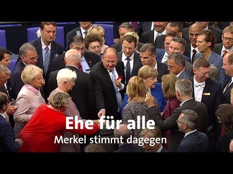 Ehe für alle: Merkel stimmt mit Nein