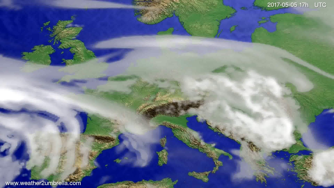 Cloud forecast Europe 2017-05-03