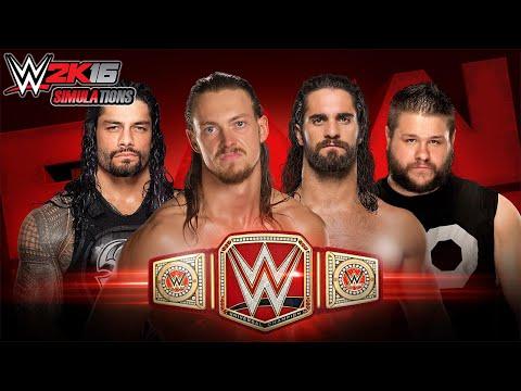 WWE 2K16 - Roman Reigns vs Seth Rollins vs Kevin Owens vs Big Cass: Universal Championship