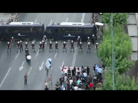 Neo-Nazi March on Parliament in Athens