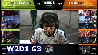 Video OpTic Gaming vs Echo Fox | Week 2 Day 1 S8 NA LCS Summer 2018 | OPT vs FOX W2D1 MP3, 3GP, MP4, WEBM, AVI, FLV Agustus 2018