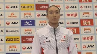 梶田凪選手 記者会見