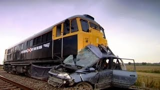 Car Hit By Train - Safety Message
