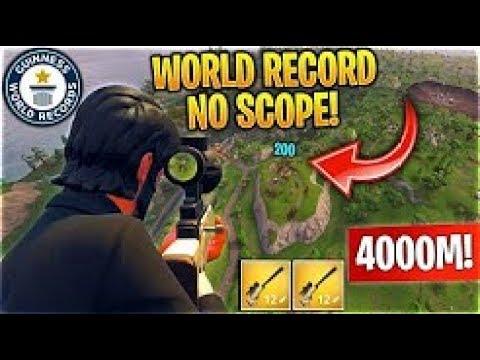 **INSANE** World Record 4000m No Scope Sniper Shot by a NOOB!!!