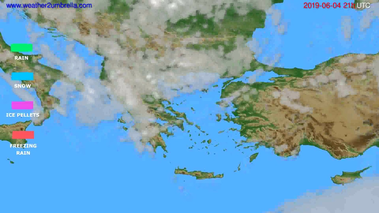 Precipitation forecast Greece // modelrun: 00h UTC 2019-06-03