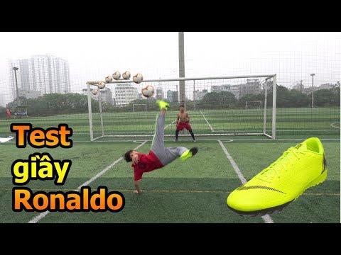 Thử Thách Bóng Đá sút Vô Lê như Ronaldo với đôi giày CR7 Đỗ Kim Phúc tặng Quang Hải Nhí Duy Trung - Thời lượng: 10:46.