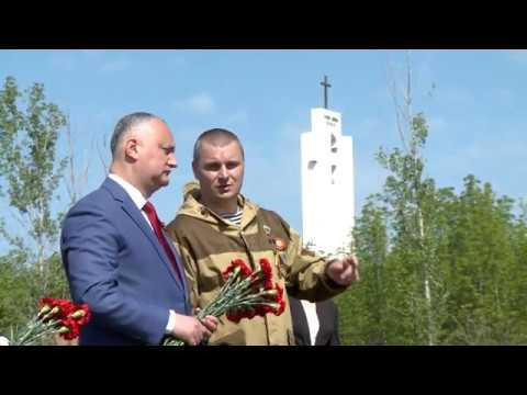 Șeful statului a participat la ceremonia de reînhumare a 45 de soldați ai Armatei Roșii