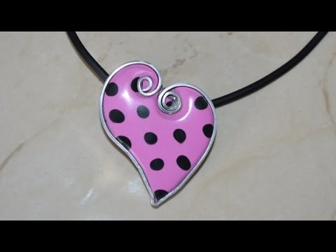 tutorial fimo - cuore a pois