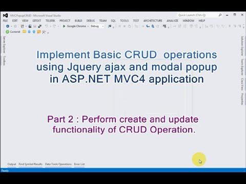 Part 2 - Basic CRUD Operations Using…