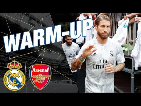 Real Madrid Warm Up Before Arsenal Match!