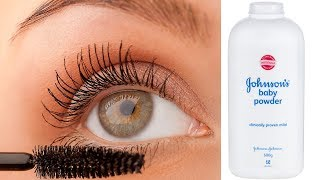 Baby Powder Eye Lash Hack