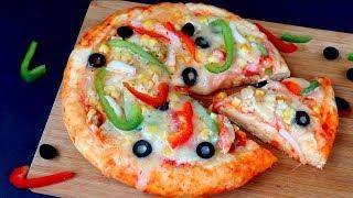 চুলায় তৈরি চিকেন প্যান পিঁৎজা     Pizza Recipe On Stove    Bangladeshi Easy Chicken Pan PIzza