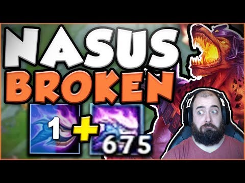WTF RIOT?? NO NERFS YET? 1 SECOND Q + 600 STACKS IS SO BUSTED! NEW NASUS TOP OP! - League of Legends (видео)