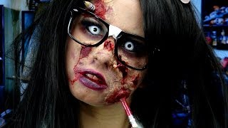 Zombie Nerd Makeup! - YouTube