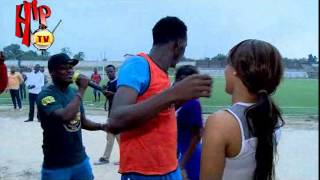 AKPORORO PROPOSES TO GIRLFRIEND ON FOOTBALL PITCH (Nigerian Entertainment News)