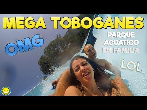 MEGA TOBOGANES vlog parque acuático en familia!!