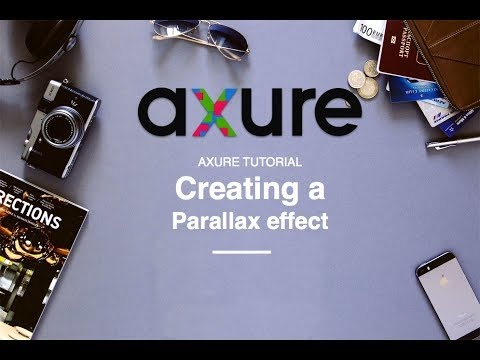 Axure RP tutorial for beginners: 04 Create a Parallax scrolling effect
