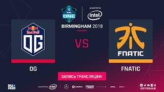 OG vs Fnatic, ESL One Birmingham, game 1 [Lex, Jam]