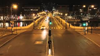 Time-lapse photography - Paris, crossroad traffic light