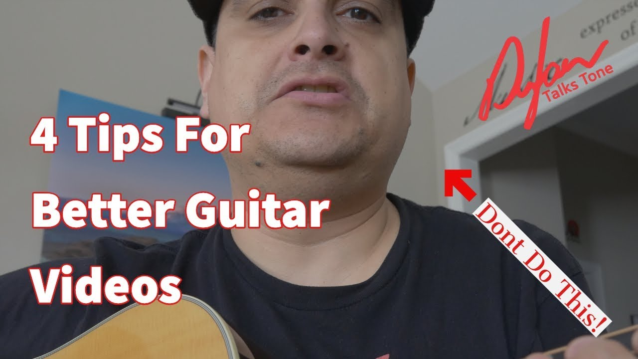 4 Tips For Better Guitar Videos on Youtube and Instagram (part one)