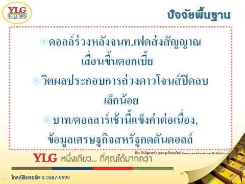 YLG บทวิเคราะห์ราคาทองคำประจำวัน 17-04-15