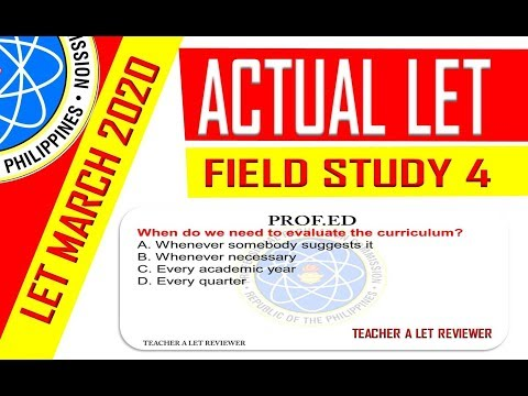 Exploring The Curriculum   | FIELD STUDY 4  | Actual LET