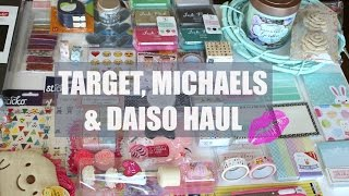 Check out the stuff I picked up recently from Target, Michaels Crafts & Daiso (a $1.50 everything store)!Thanks for watching :) xox