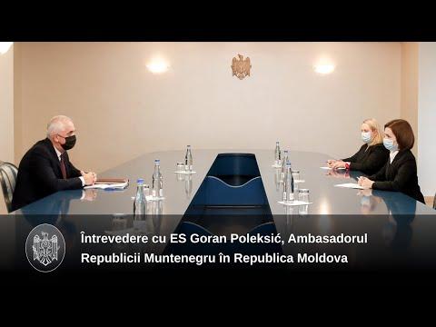 Republica Moldova dorește consolidarea relațiilor economice cu Muntenegru