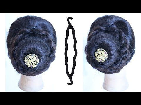 Curly hairstyles - new juda hairstyle with using magic hairlock  wedding hairstyles  latest hair style  hairstyle