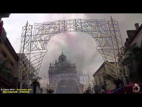 ACICATENA (Ct) - SANTA LUCIA 2016 - PIROTECNICA MILLENNIUM e FIRESUD (2° Postazione Uscita)