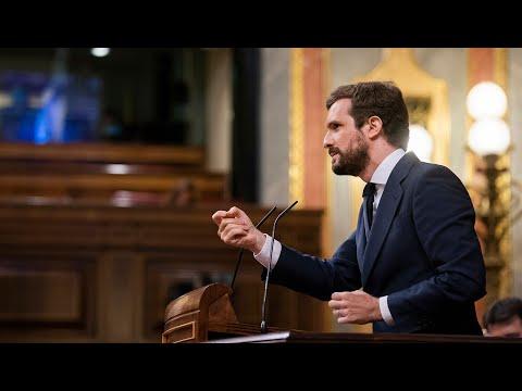 """Réplica de Pablo Casado a Pedro Sánchez: """"No merece los aplausos por su pésima gestión, así no"""""""
