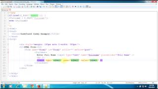 Solution for Notice: Undefined index: in index.php on line | PHP Tutorials